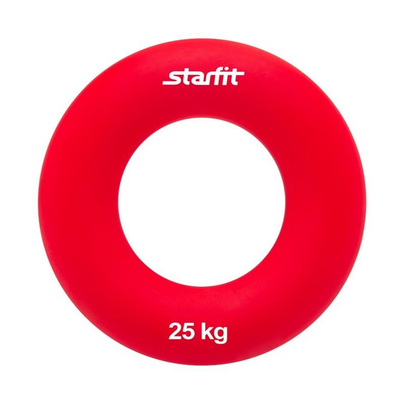 Эспандер кистевой Starfit ES-404 Кольцо, диаметр 8,8 см, 25 кг, красный