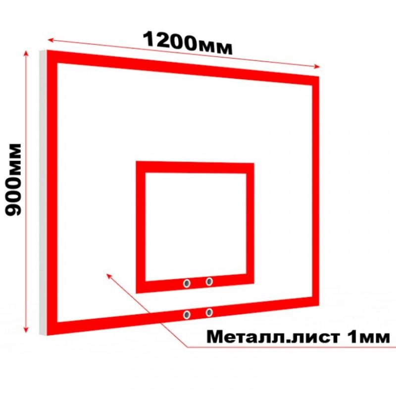 Щит баскетбольный Atlet антивандальный металлический тренировочный 120х90см