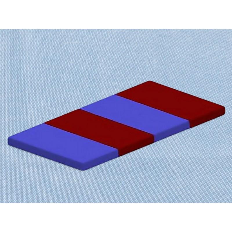 Мат поролоновый складной 200х100х10 см кожзаменитель Гимнаст 9.61