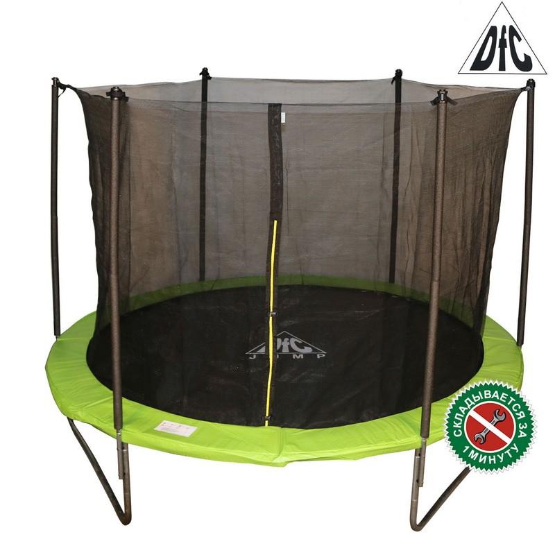 Батут DFC Jump 14FT 427 см c сеткой, складной, чехол, apple green 14FT-TR-EAG