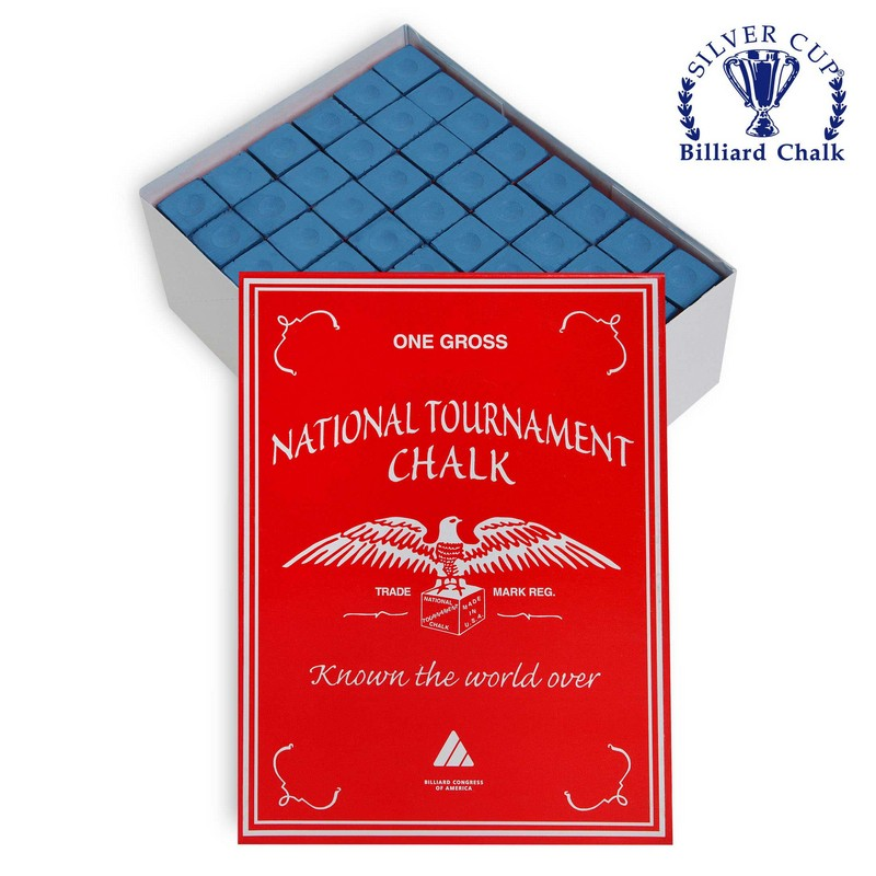 Мел Silver Cup National Tournament Chalk Blue 144шт.