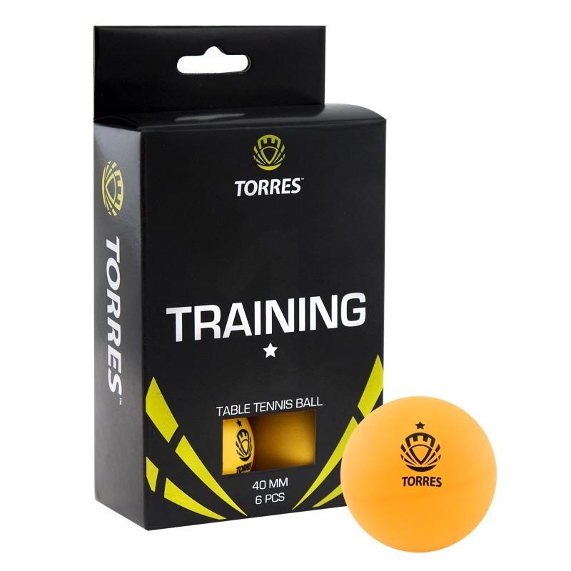 Мячи для настольного тенниса Torres Training 1* 6 шт TT0015 оранжевый