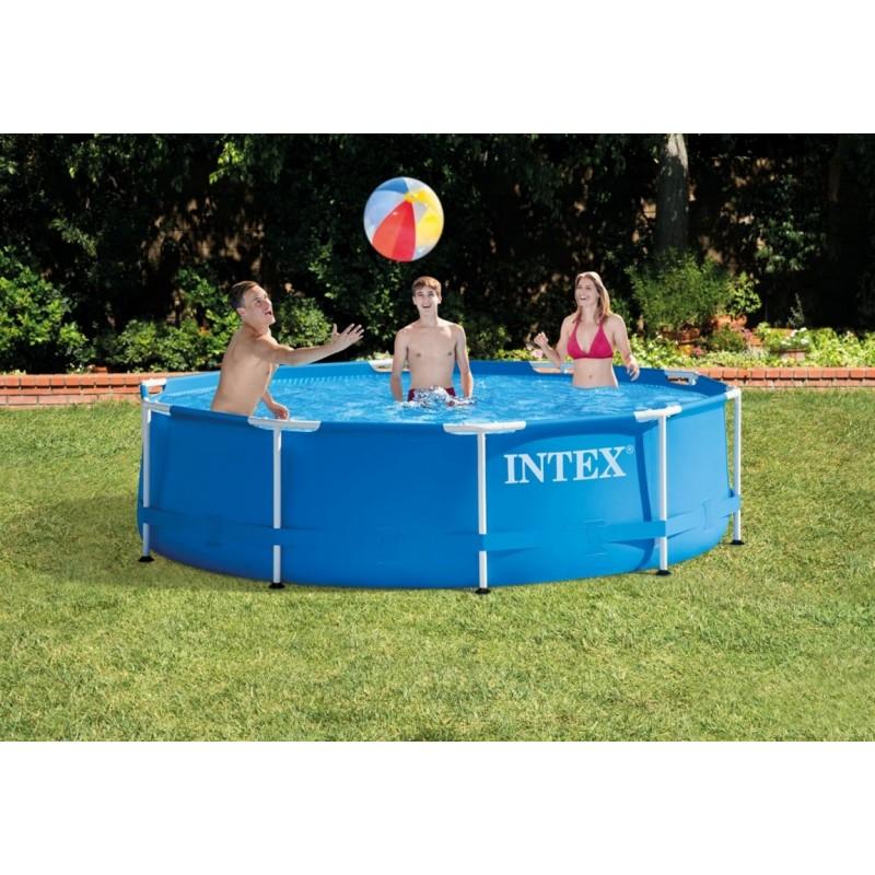 Каркасный бассейн круглый 305х76см Intex Metal Frame 28200