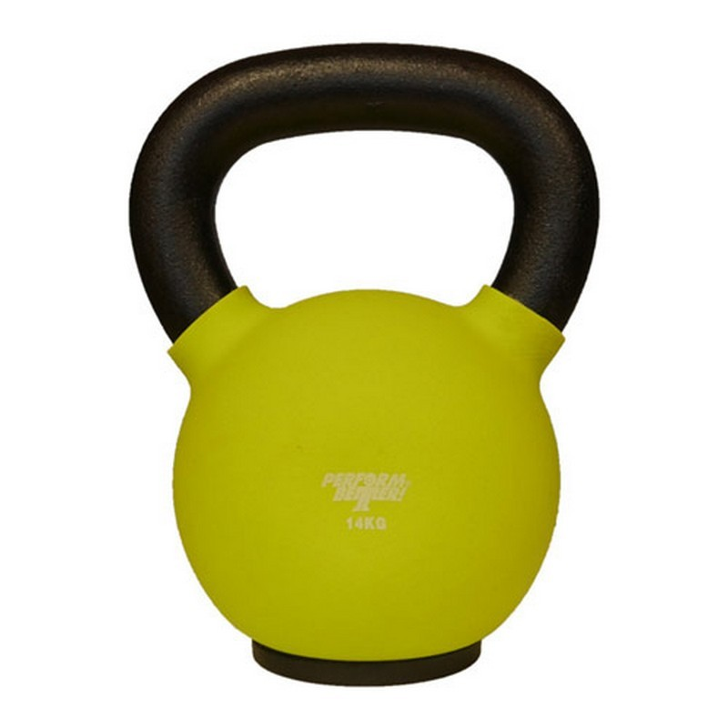 Обрезиненная гиря 14 кг Perform Better Neoprene Kettlebell 8937 салатовый