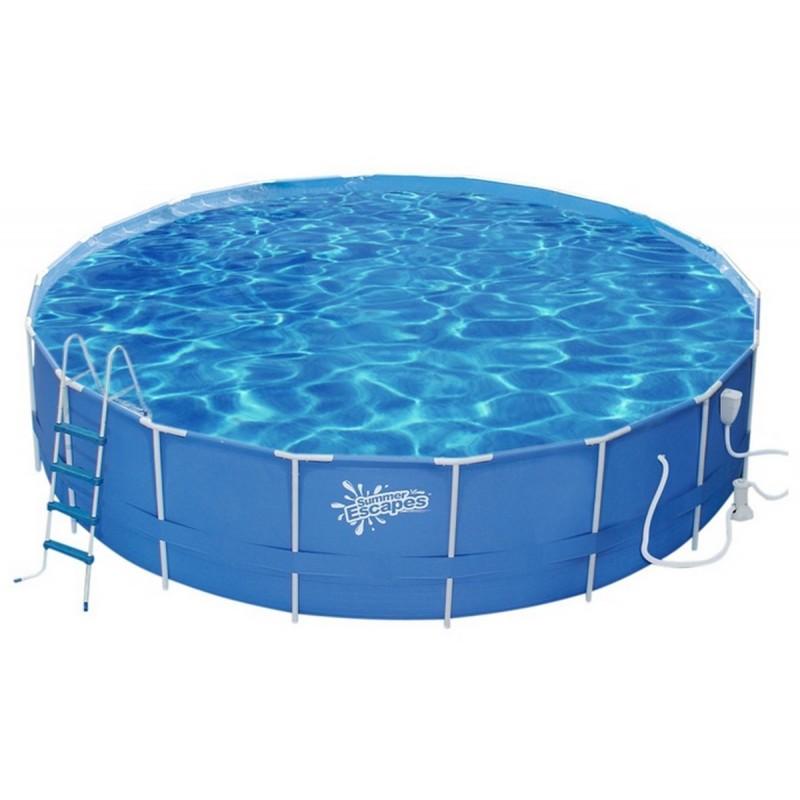 Каркасный бассейн круглый 549х132см+насос-фильтр SummerEscapes Р20-1852-B