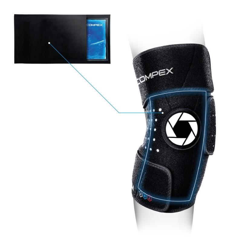 Бандаж колена Compex Coldform Knee с гелевым вкладышем,размер S-M, 83-0026-SM-FG