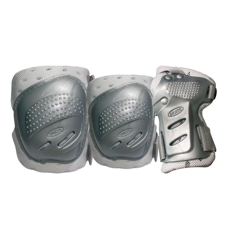 Комплект 3-х элементов защитыTempish Cool Max 3-set (knee+elbow+wrists) Серебро