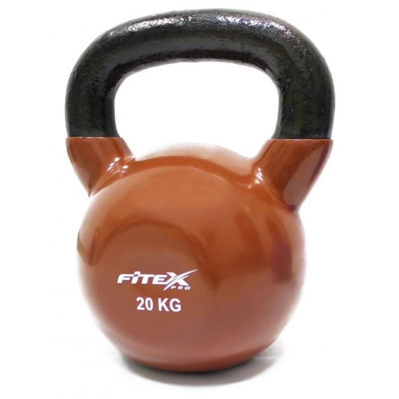 Гиря в виниловой оболочке 20 кг Fitex Pro