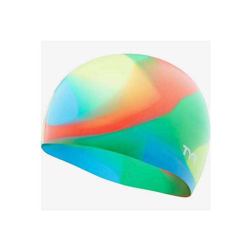 Шапочка для плавания TYR Tie Dye Junior Swim Cap, силикон, LCSJRTD/465, синий