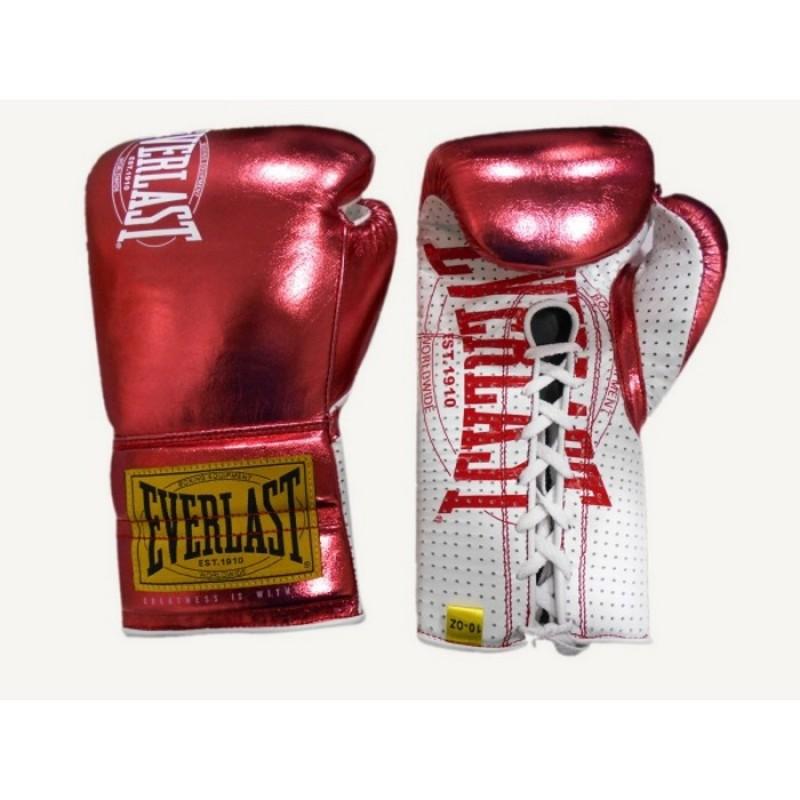 Боксерские перчатки Everlast боевые 1910 Classic 10oz красный P00001902