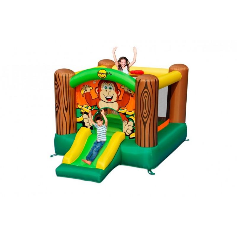 Детский надувной батут с горкой Happy Hop Дружба 9201G