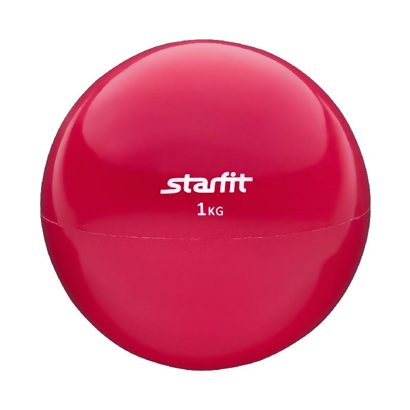 Медбол 1 кг Star Fit GB-703 красный