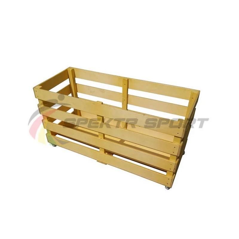 Контейнер для спортинвентаря деревянный передвижной Spektr Sport
