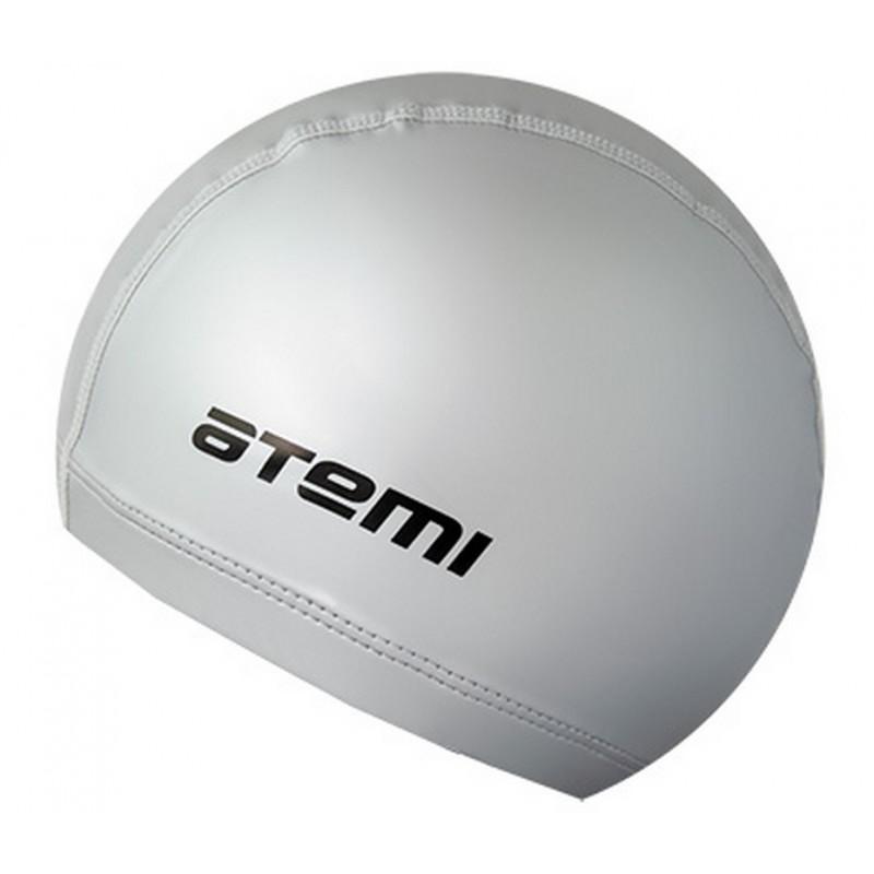 Шапочка для плавания Atemi PU 12 серебро