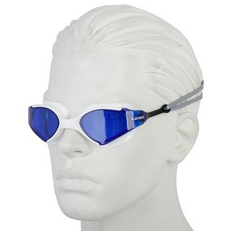 Очки плавательные Larsen S53 белый\синий