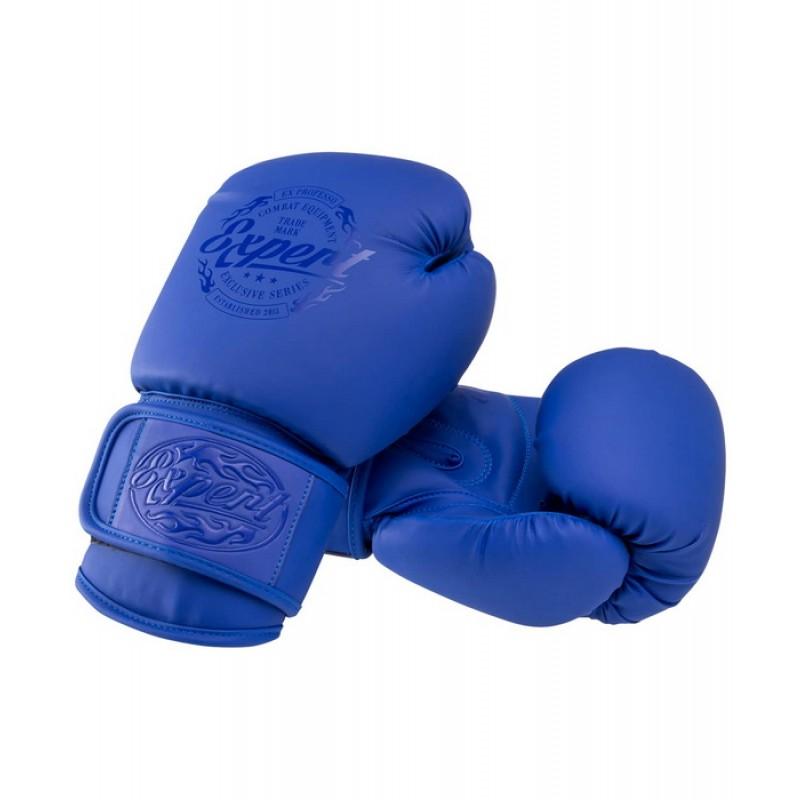 Перчатки боксерские Expert BGS-V012 , синий, 12 oz