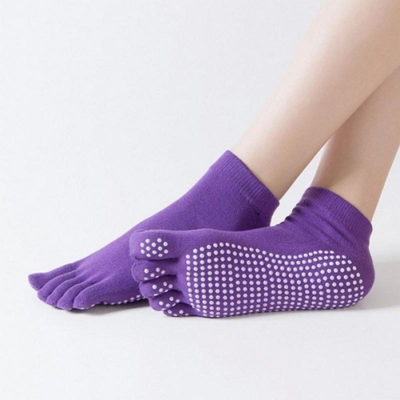 Носки противоскользящие Bradex для занятий йогой закрытые SF 0274