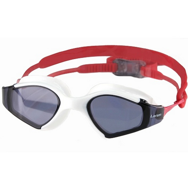 Очки плавательные Larsen S53 белый\красный