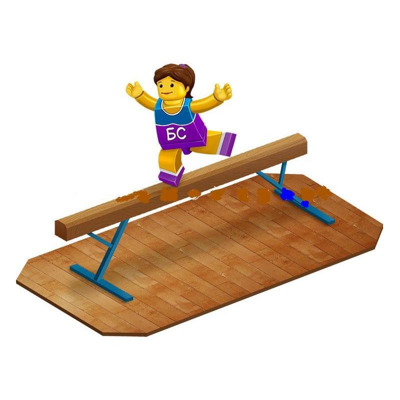 Бревно гимнастическое мягкое 5 м постоянной высоты Гимнаст 9.01.M